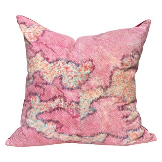 Antique Watercolor Shibori Pillow