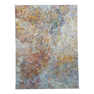 Abstract Expressionist Oil on Canvas by Chet Kalm