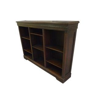 Victorian Oak Open Front Bookcase