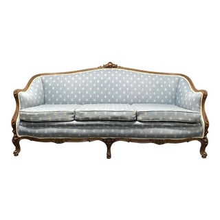Vintage French Style Walnut Sofa