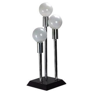 Modernist 3-Arm Chrome Lamp