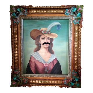 The Scarlet Mustache Original Portrait