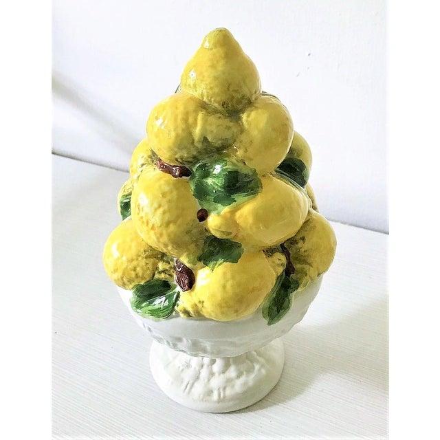 Italian Majolica Lemon Topiary ( 2 Available), Mid-Century - Image 7 of 11