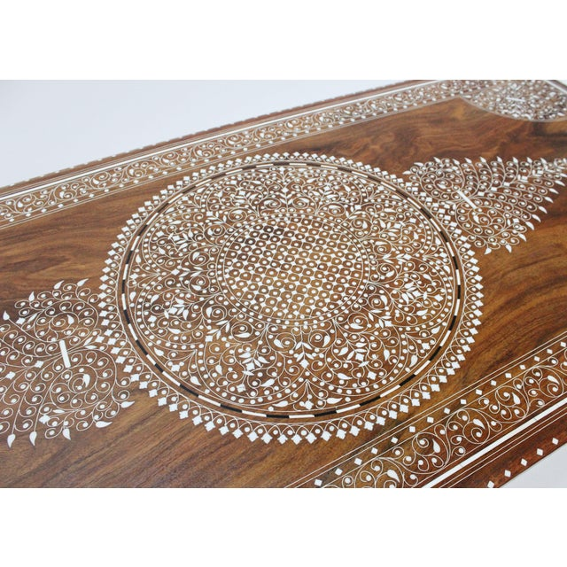 Vintage Bone Inlay Coffee Table - Image 7 of 8