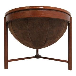 Danish Modern Teak Sewing Basket Stand