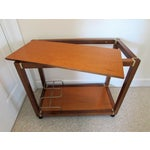 Image of Mid Century Wood & Brass Bar Cart