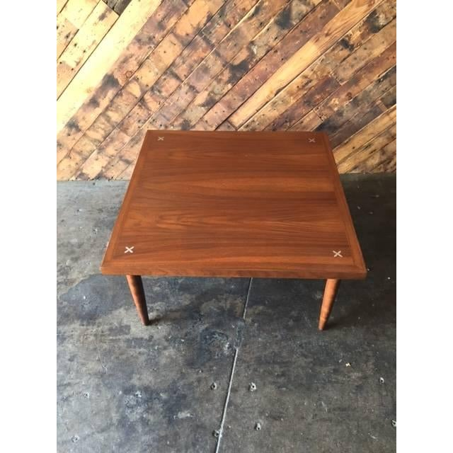 American of Martinsville Walnut Inlay Coffee Table - Image 3 of 7