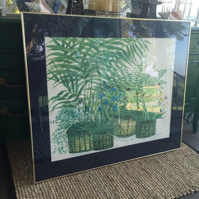 1970's Palm Beach Regency Artist Ida Pellei Botanical Gallery Framed Art - Image 6 of 11