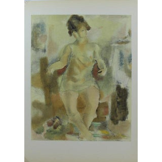 "1954 Jules Pascin ""Nu a La Chemise Rose"" Classic Lithograph"