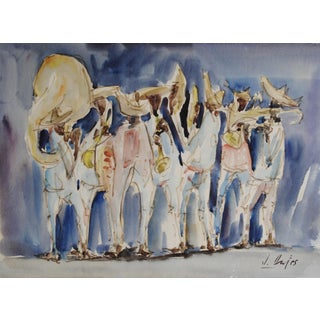 Vintage Musicians Watercolor