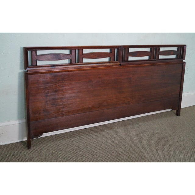 Mid Century Modern Walnut King Size Headboard - Image 2 of 10