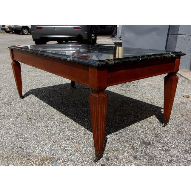 Marble Coffee Table Vintage: Vintage Marble Top Coffee Table