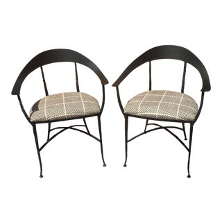 "Charleston Forge / Designers Guild ""Hudson Wrap"" Arm Chairs - A Pair"