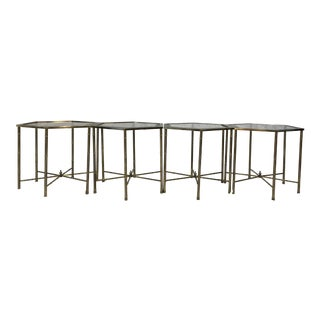 Mastercraft Brass Hexagonal Tables - Set of 4