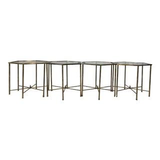 Mastercraft Brass Hexagonal Tables - Set of 4