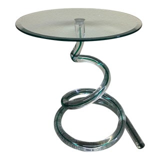 Vintage Murano Blown Glass Accent Table