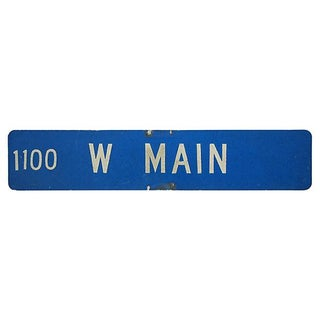 Vintage 1970s Double-Sided Metal Main Street Sign