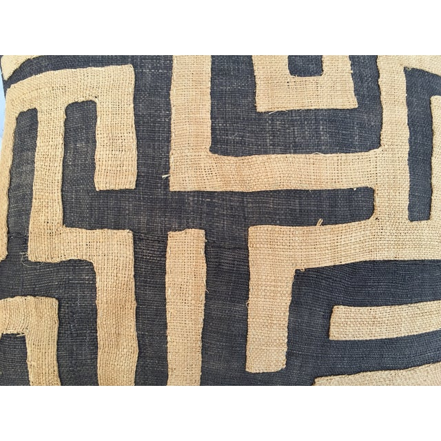 Vintage African Kuba Maze Pillows - A Pair - Image 4 of 8
