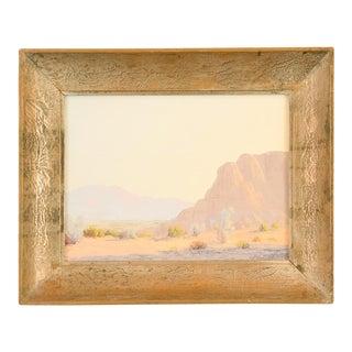 John Hilton Desert Landscape Oil Painting
