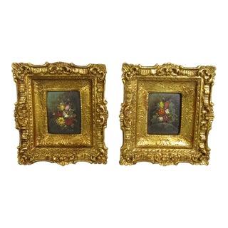 Italian Paintings on Tin - Pair