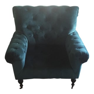 Magnolia Home Upholstered Teal Chair