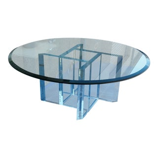 Mid-Century Glass & Lucite Coffee Table