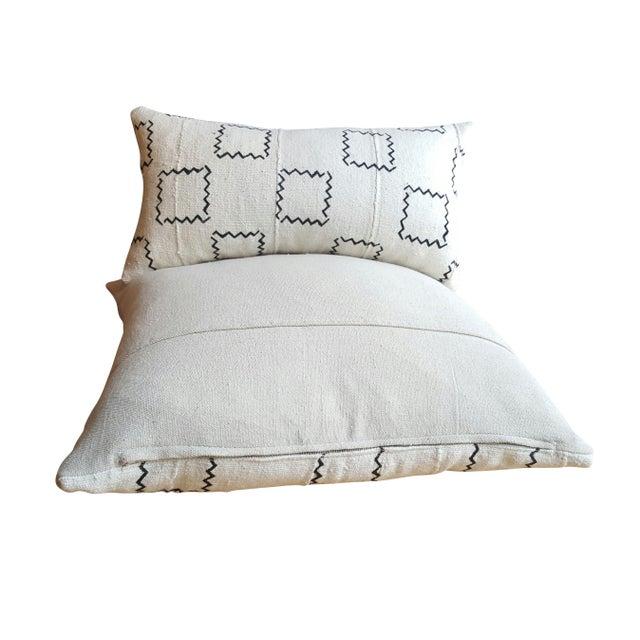 Image of African Mud Cloth Geometric Lumbar Pillow
