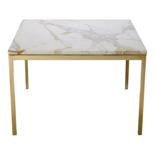 Florence Knoll Coffee Table with Calacatta Marble, 24-Karat Gold Edition