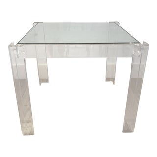 Acrylic and Glass Game Table