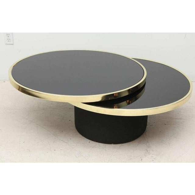 Swivel Glass Brass Coffee Table Chairish