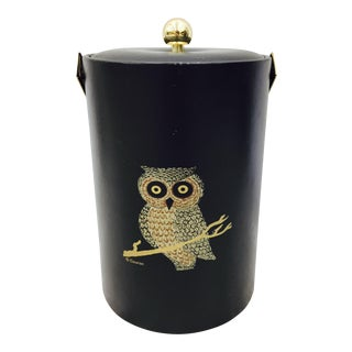 Vintage Mid-Century Modern Owl Ice Bucket by Couroc