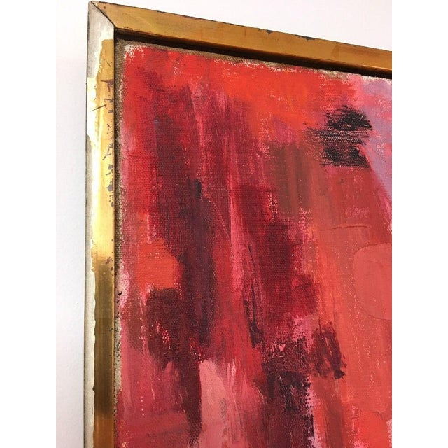 BT Wohl Mid-Century Abstract Oil Painting 1966 - Image 3 of 11