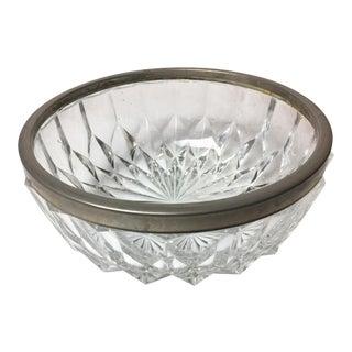 Vintage Crystal & Silverplate Bowl