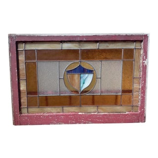 Vintage American Stained Glass Window