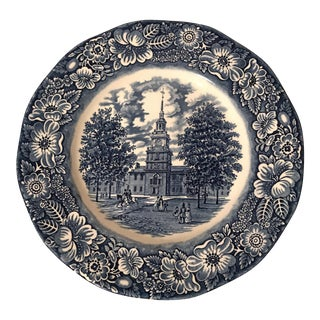 English Staffordshire Liberty Blue Dinner Plate