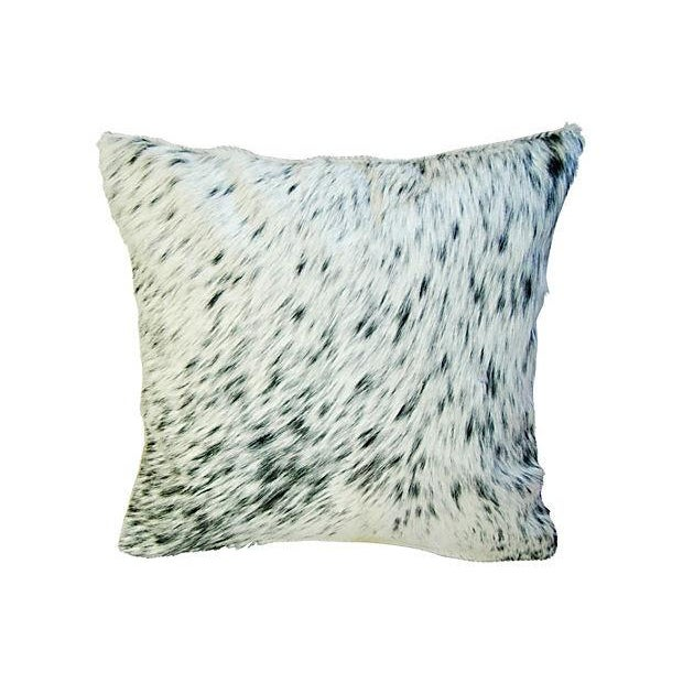 Image of Custom Natural Cowhide & Down Pillows - A Pair