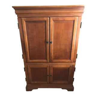 Traditional Brown Wooden Armoire Wardrobe