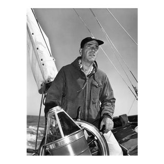 Humphrey Bogart at the helm 1952
