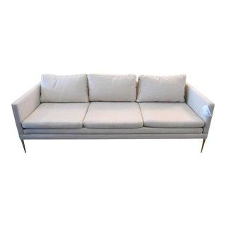 Gold Metal Leg & Cream Ivory Sofa