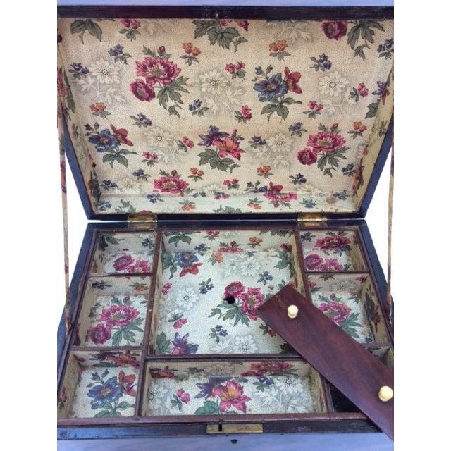Antique Mahogany Sewing Box - Image 3 of 7