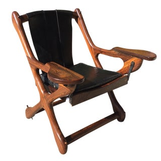 """Rosewood Leather """"Swinger"""" Chair by Don Shoemaker"""