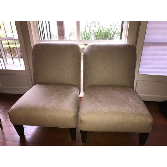 Cisco Home Armless Linen Slipper Chairs - A Pair - Image 6 of 6