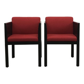 Pair of Designer Brian Kane Red Chairs