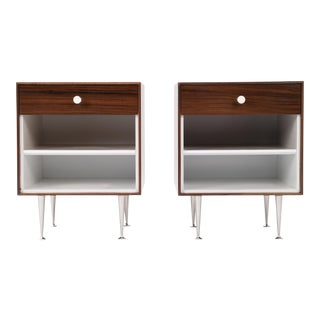 Pair of George Nelson Thin-Edge Nightstands