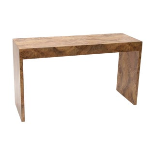 Mid-Century Burl Console Table