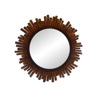 French Split Bamboo Sunburst Mirror