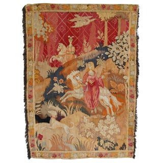 19th-Century French Diana Goddess of the Hunt Tapestry