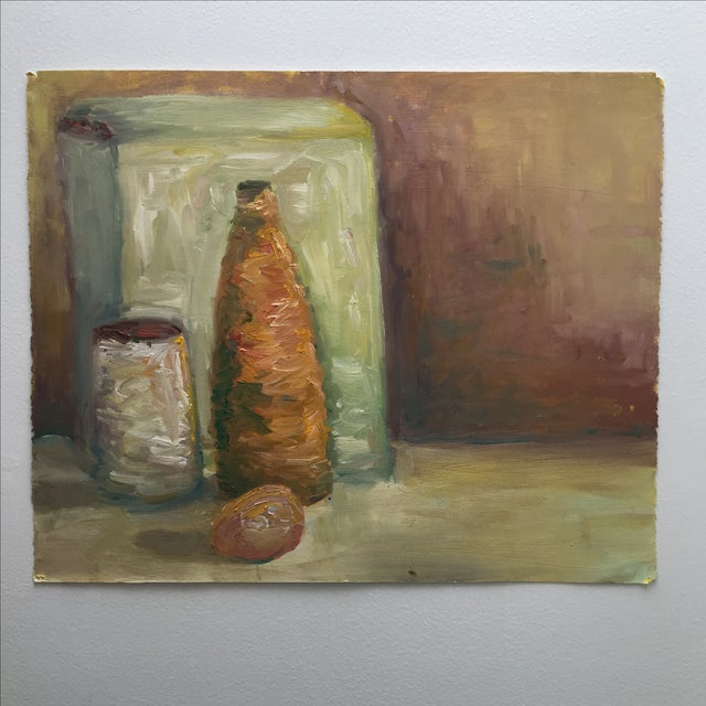 Vintage Abstract Still Life Painting - Image 4 of 11