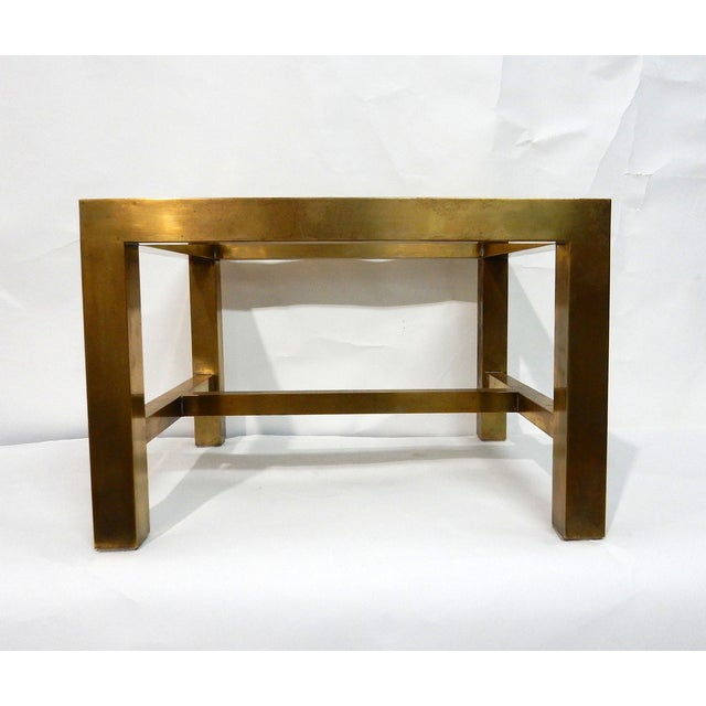Maitland-Smith Stone & Brass Box Side Table - Image 7 of 10