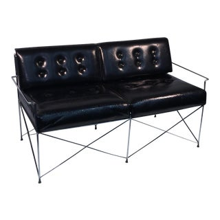 Molecular Design Tubular Chrome Loveseat